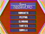 A Super Password puzzle - answer below.